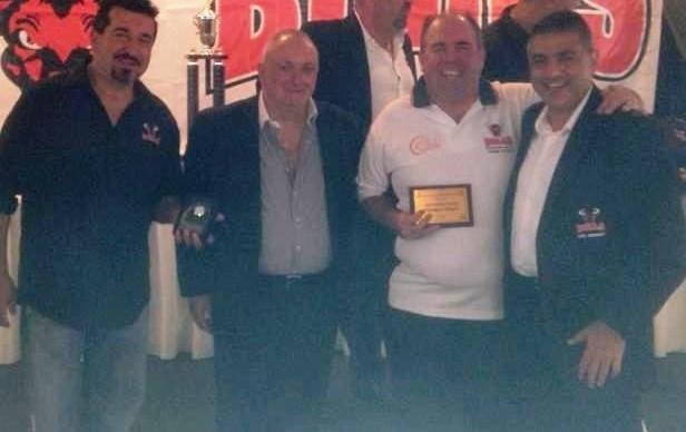 Matthew O'Neill 2013 Secretary's Appreciation Award with Romiz Barakat, George Coorey & Anthony Samuel