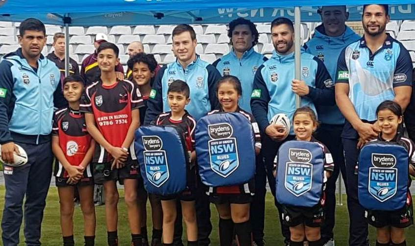 2018 Bulls players with the NSW State of Origin squad