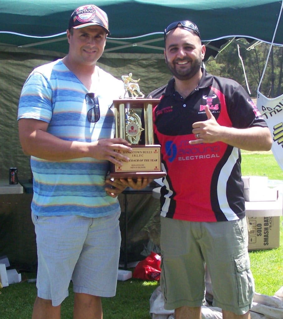 Junior Coaches of the Year Michael Rodrigues (2014) & Lawrence Karam (2013)
