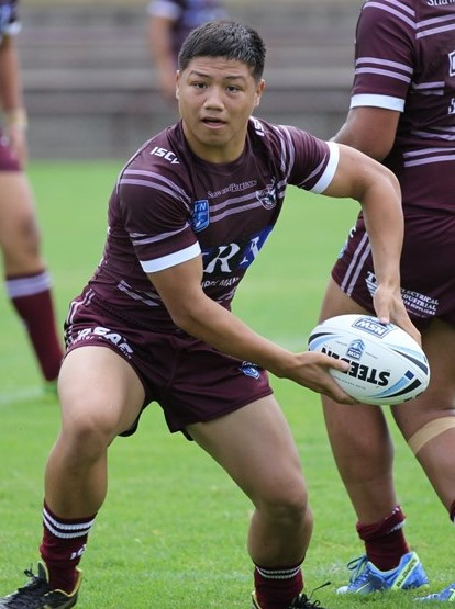 Gordon Chan Kum Tong 2011 Ray Farah Junior Player of the Year in action for the Manly Sea Eagles